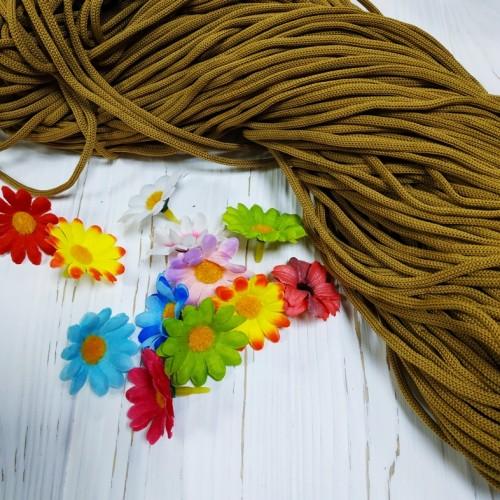 Полиэфирный шнур для вязания,4мм,цв-горчичный,100м