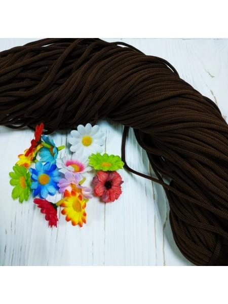 Полиэфирный шнур для вязания,4мм,цв-тёмно-коричневый,100м