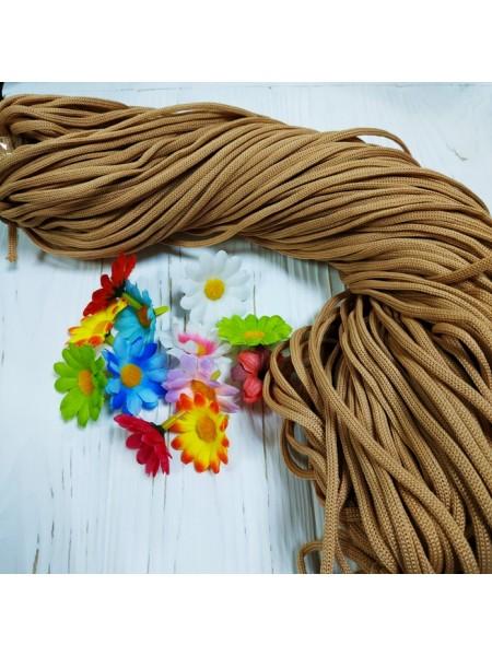 Полиэфирный шнур для вязания,4мм,цв-св-коричневый,100м