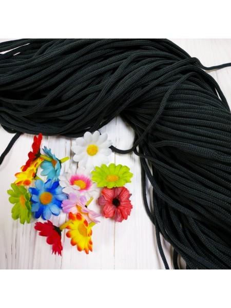Полиэфирный шнур для вязания,4мм,цв-графит,100м