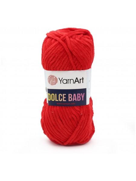 Пряжа YarnArt Dolce Baby, 50гр-85 метров, №748-красный