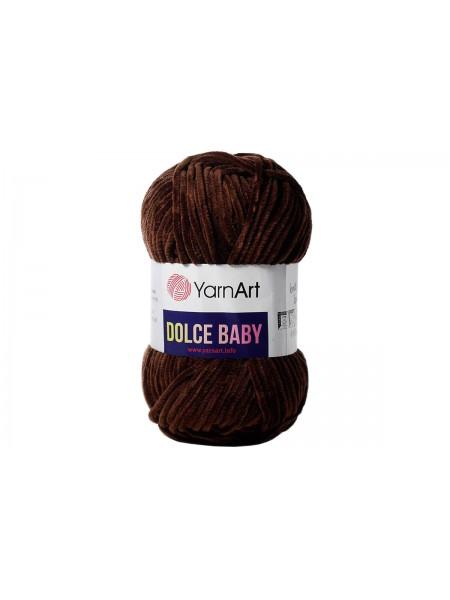 Пряжа YarnArt Dolce Baby, 50гр-85 метров, №775-темно-коричневый