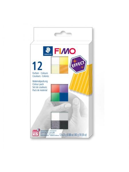 Набор полимерной глины FIMO EFFECT 12*25гр