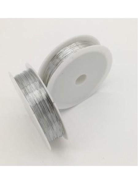 Проволока для бисера ,цв-серебро,0,3мм-50м