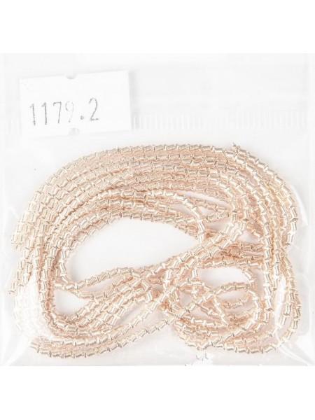 Канитель фигурная d.2мм 5грамм (розовое золото) №1179