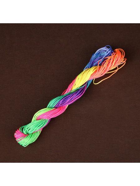Шнур нейлоновый 1мм,разноцветный.Цена-за 20 метров