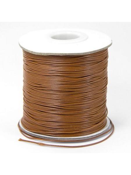Вощеный шнур,полированный,2 мм,коричневый,цена за 1 метр