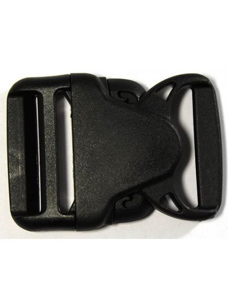 Пряжка-замок (фастекс) -40 мм, цв чёрный,цена за 1 шт