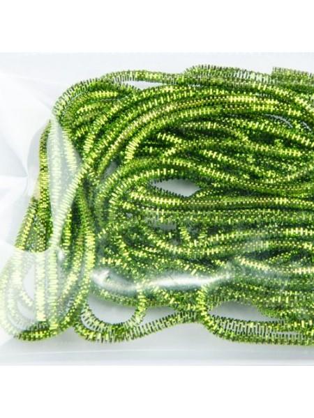Канитель фигурная d.0.7мм 5грамм (зеленый светлый) №4973