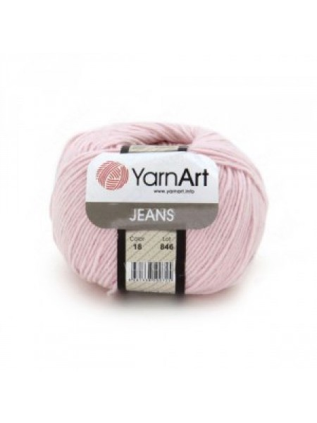 "Пряжа  YarnArt ""Jeans Джинс""цв. 18, светло-розовый"