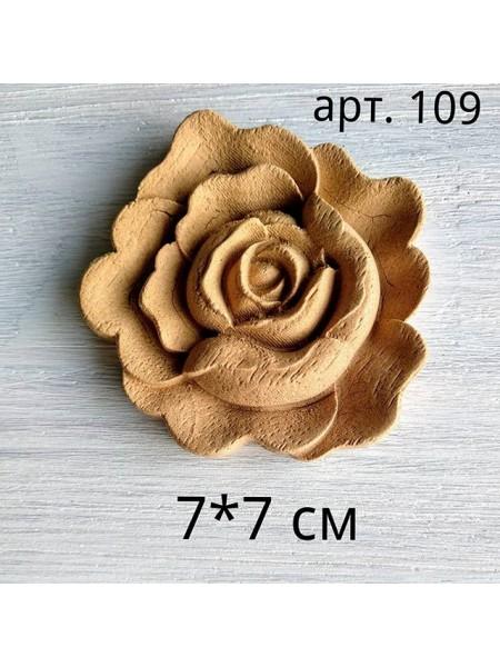 Декор из древесной пульпы-Цветок,№109, 7*7см