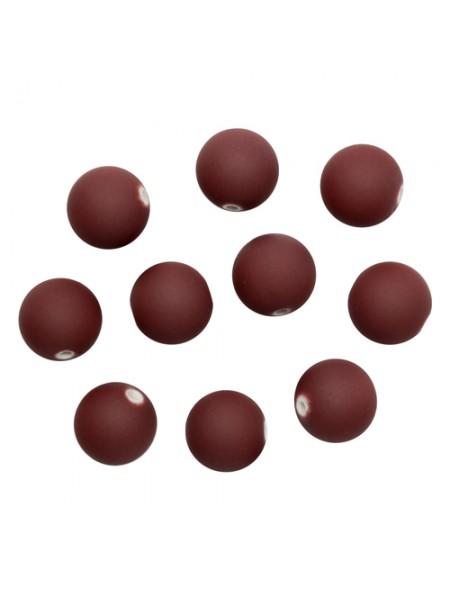Бусины матовые, 12мм, 20гр.цв-какао