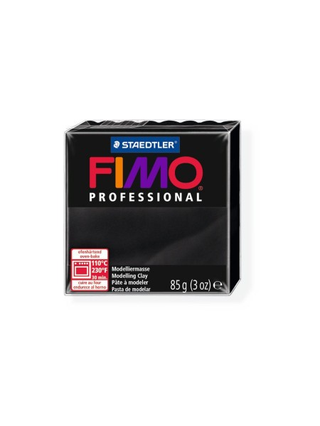 Полимерная глина FIMO Professional, цвет чёрный,85гр