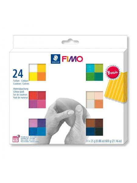 Набор полимерной глины FIMO basic colours ,24 цвета