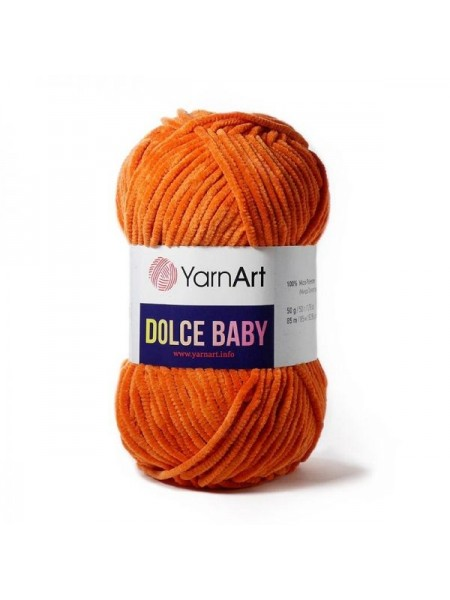 Пряжа YarnArt Dolce Baby, 50гр-85 метров, №778 оранжевый