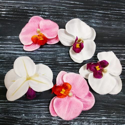 """Головка цветочная """"Орхидея"""" цвет белый,7см"""