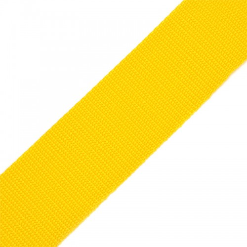 Стропа-ременная лента, 25мм,цв-желтый,цена за 1 м