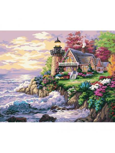 Рисование по номерам (живопись на холсте),Шумный берег, 40*50 см.24 цв.