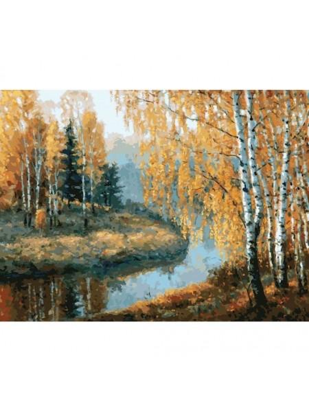 Рисование по номерам (живопись на картоне), Вот и осень пришла, 30*40 см.32 цв.