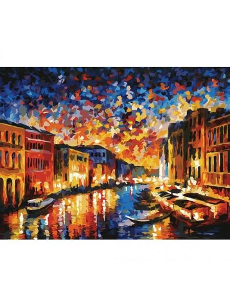 Рисование по номерам (живопись на картоне), Гранд-Канал Венеция, 30*40 см.29 цв.