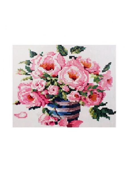 Алмазная мозаика на подрамнике 'Букет роз', 40*50см,кругл.стразы