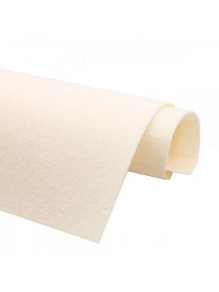 Корейский фетр,жесткий,кремовый.1,2мм,размер 33*26см