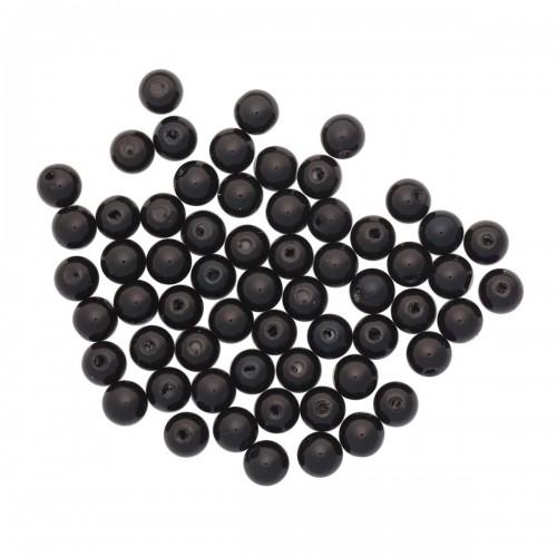 Бусы круглые, пластик, 8 мм, упак./25 гр.цв-черный