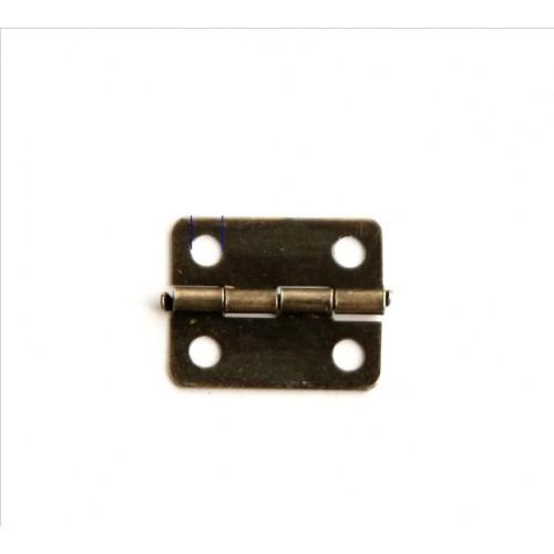 Петли для шкатулок 18*16 мм ,2шт,цв-бронза