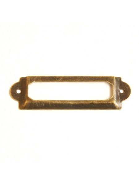 Рамка архивная металл,цв-медный, 1,8 см х 6 см
