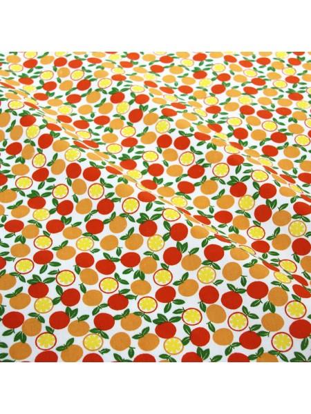 Отрез (сатин) - апельсины,50*50 см.цена за отрез