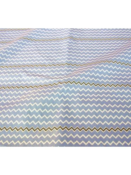 Отрез (сатин) - зиг-заг (голубой),50*50 см.цена за отрез