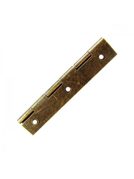 Петля для шкатулок 60*20 мм(прямая),  2шт бронза