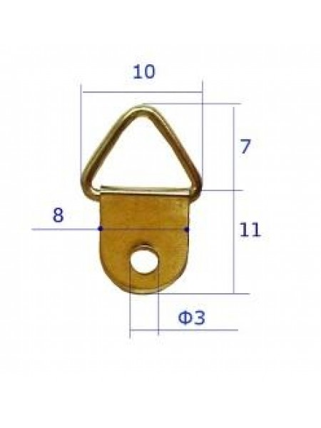 Петля-подвес  малая 10*18 мм,цв-золото,цена за 2 шт