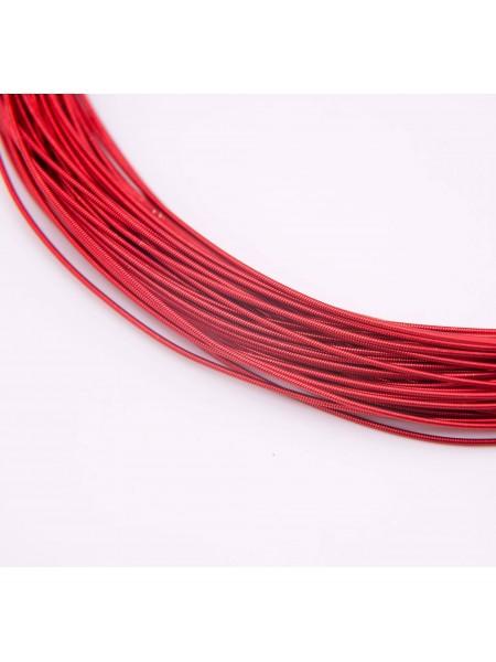 Канитель жёсткая ,цв-красный,1,25мм.,цена за 5 гр
