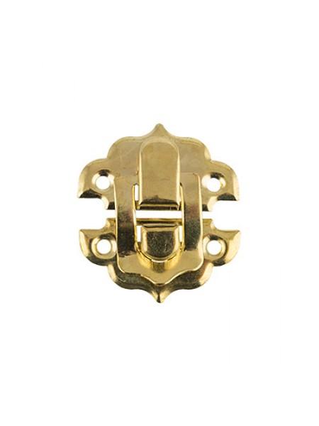 Замок декоративный  для шкатулки,золото + шурупы. 2,9х3 см