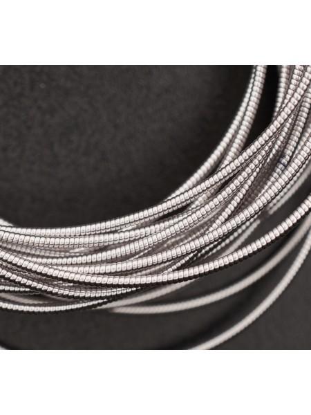 Канитель жесткая,цвет серебро,1 мм- 5 гр