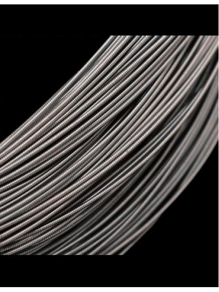 Канитель жёсткая , цв-тёмно-серый, 1мм,цена за 5 гр