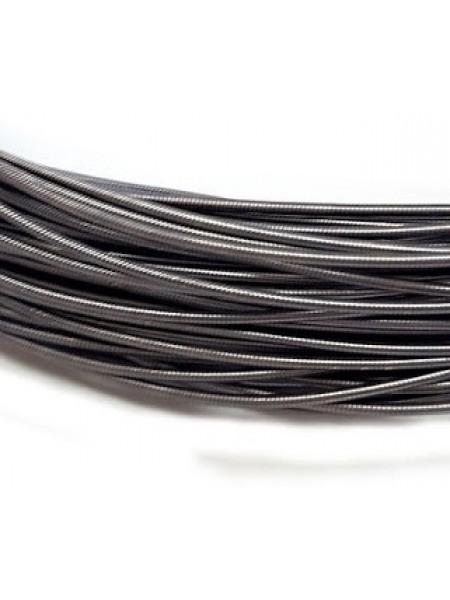 Канитель жесткая,цвет тёмно-серый,1,25 мм- 5 гр