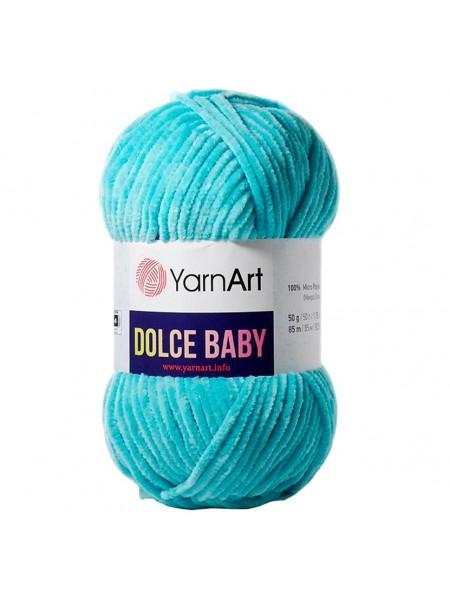 Пряжа YarnArt Dolce Baby, 50гр-85 метров, №746,светлая бирюза