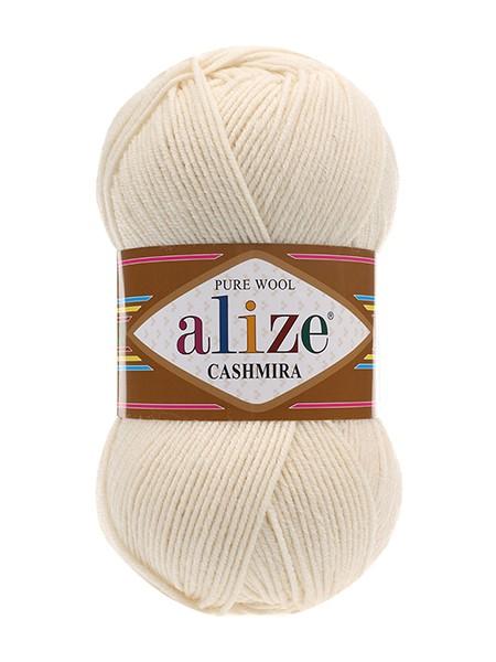 Пряжа ALIZE Cashmira (Ализе Кашмира)цв-01-молочный