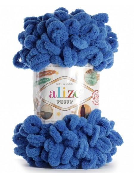Пряжа Alize Puffy-цвет  синий,100 гр-9 м