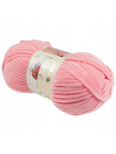 Плюшевая пряжа Долфин Бэби,цв-розовый,№346,100гр