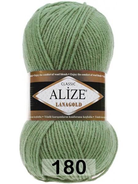 Пряжа Alize-Ланаголд (Lanagold) цв-180(сосновый)