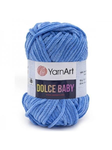 Пряжа YarnArt Dolce Baby, 50гр-85 метров, №777,синий