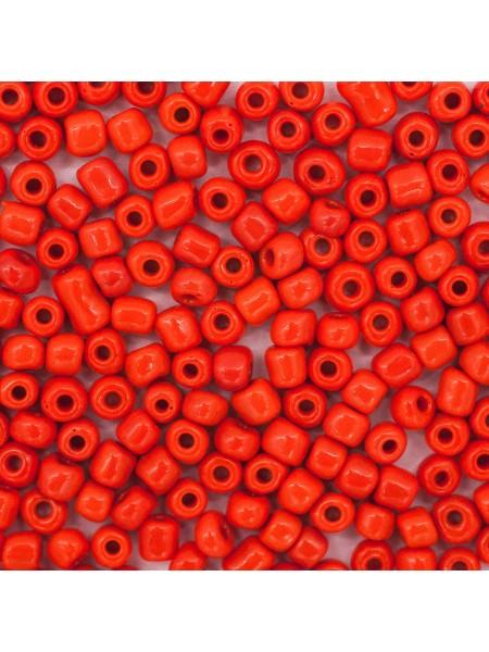 Бисер, (стекло)-Астра,-Астра,  6/0(крупный), упак./20 гр., цв-50 оранжевый/непрозр