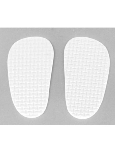 Подошва для изготовления обуви,цв-белый  4*7см, цена за пару