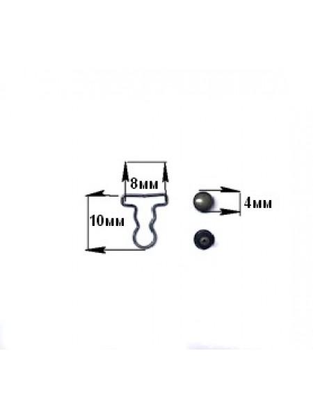 Застежка для комбинезона мини- уп.2 пары,для кукол, цв-бронза