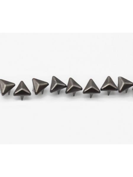 Декоративные заклёпки, Шип-треугольник цв-черный,6 мм ,цена за 20шт