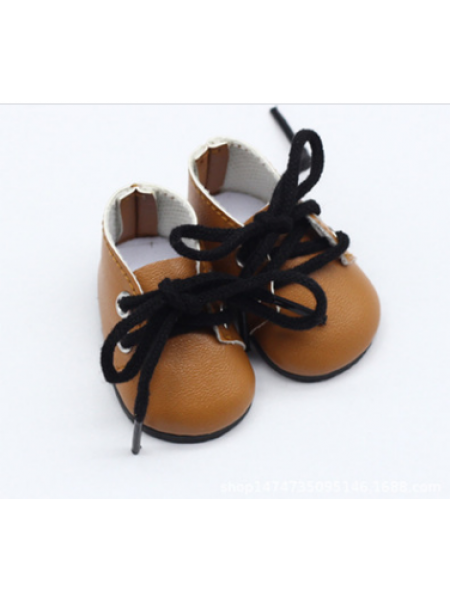 Ботиночки коричневые(шнурки коричневые),5*2,8см