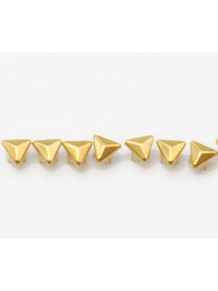 Декоративные заклёпки, Шип-треугольник цв-золото,6 мм ,цена за 20шт